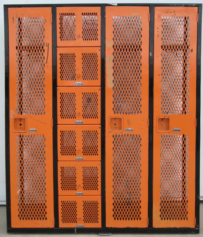 Mixed Orange and Black Gym Lockersimage 2 image 2
