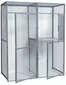 Wire Mesh Lockers for Bulk Storage