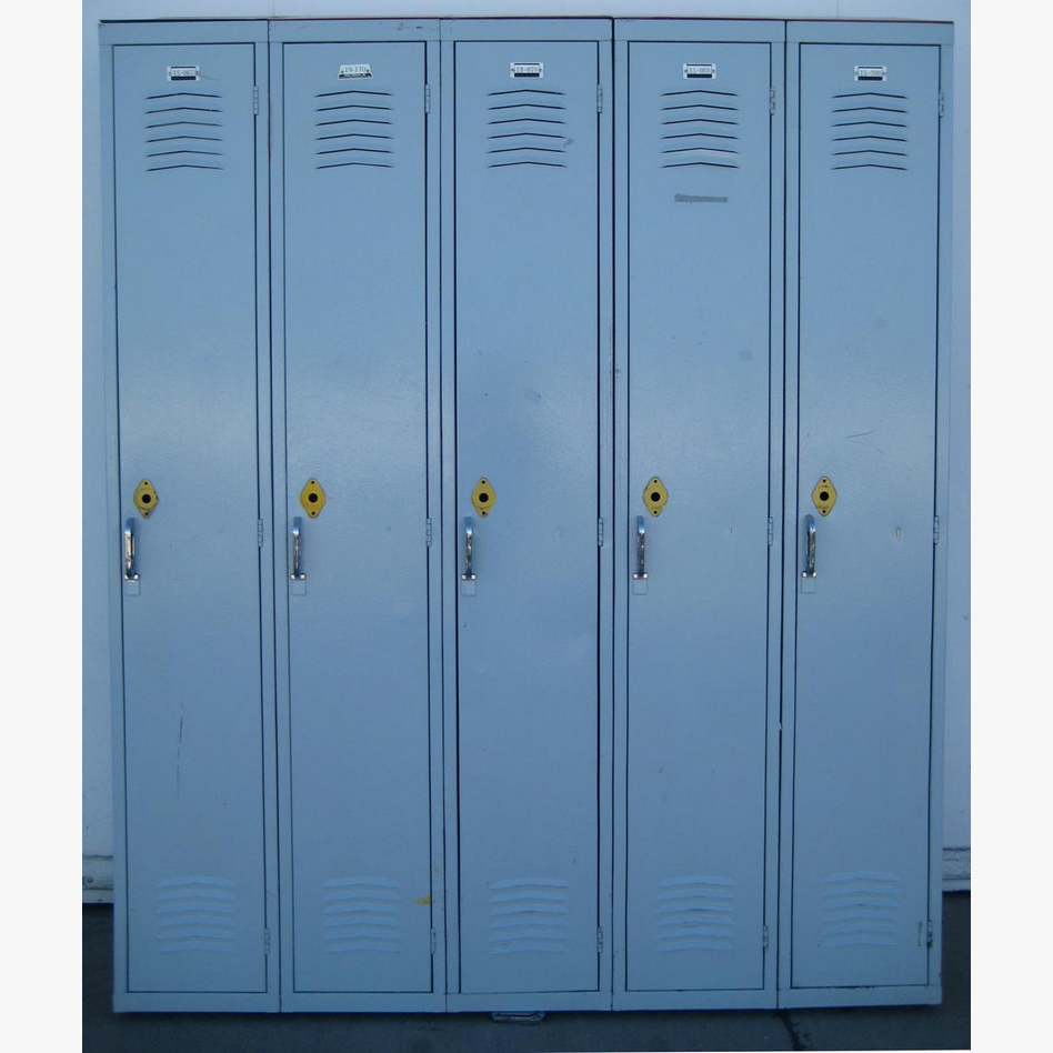 Used Lockers with Sloped Tops
