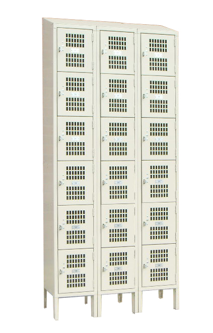 Vented Box Lockers - Multi Tier