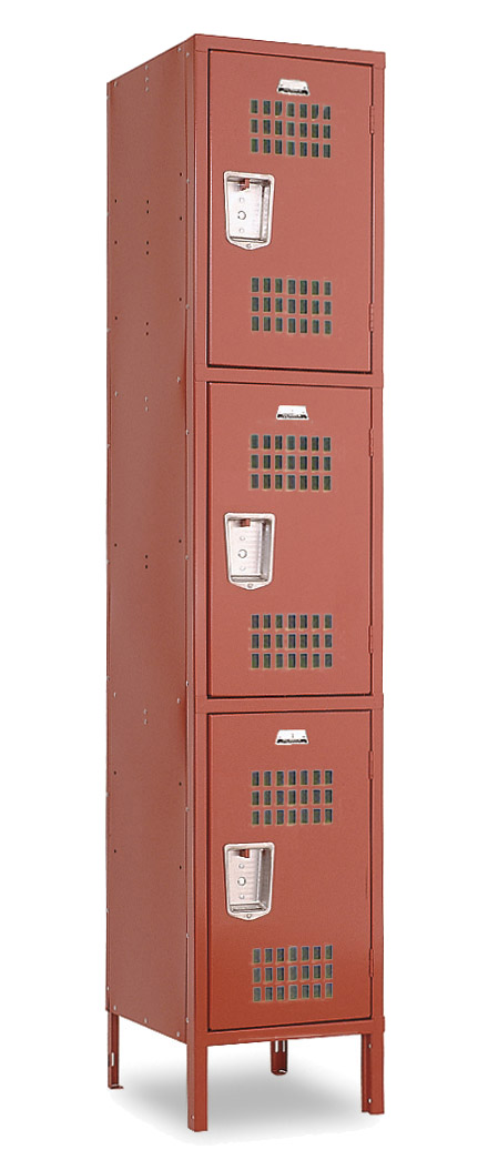 Ventilated Gym Lockers - Triple Tier