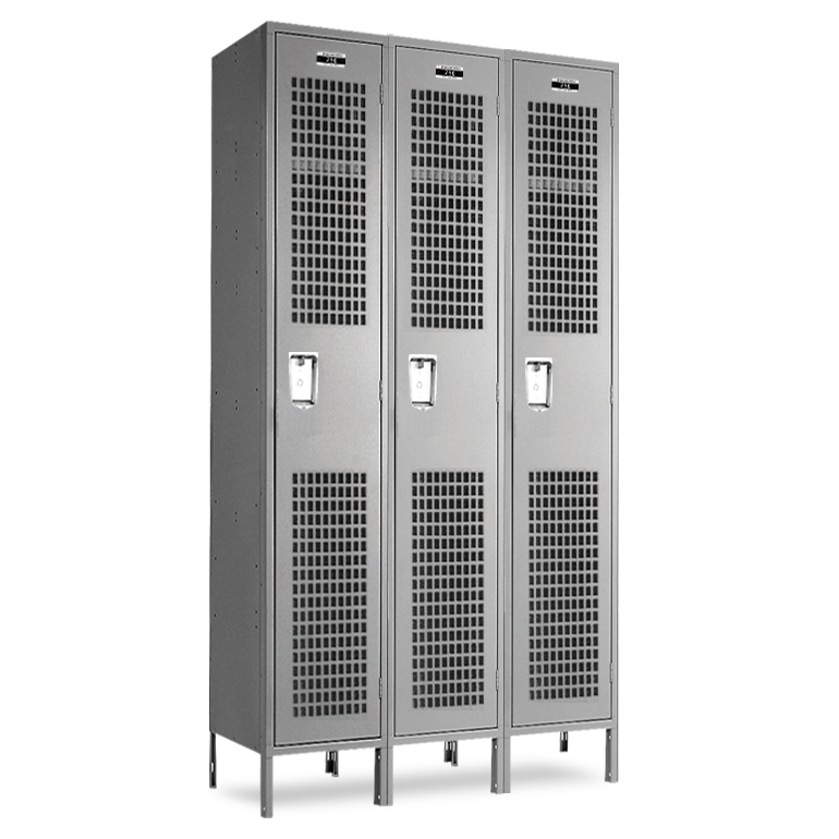 Single Tier Ventilated Gym Lockers