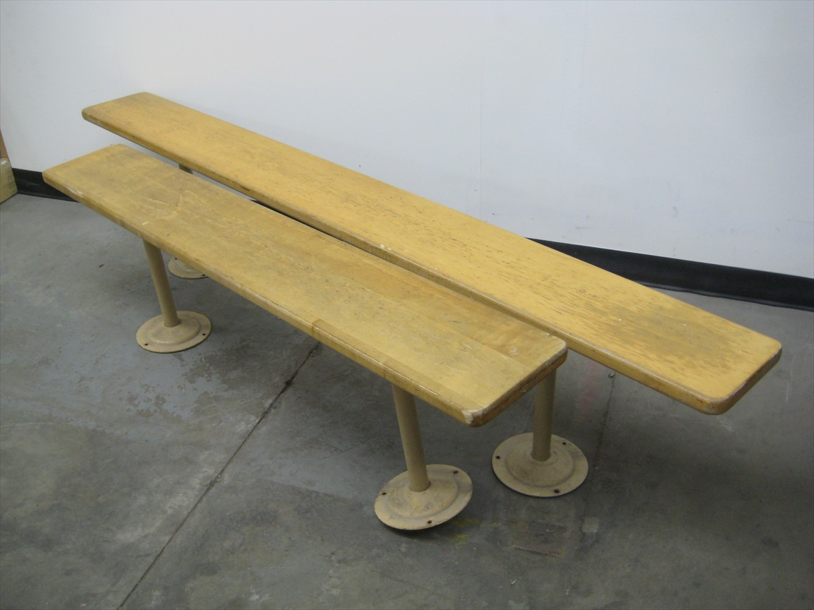 Hardwood Benches with Pedestals