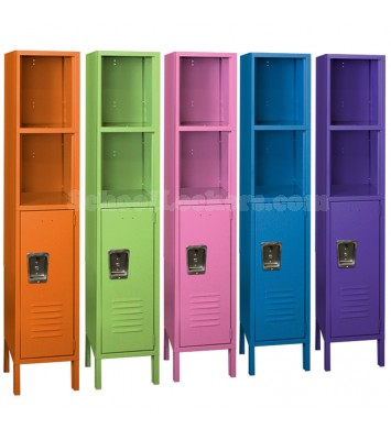 Colorful Lockers With Cubbies
