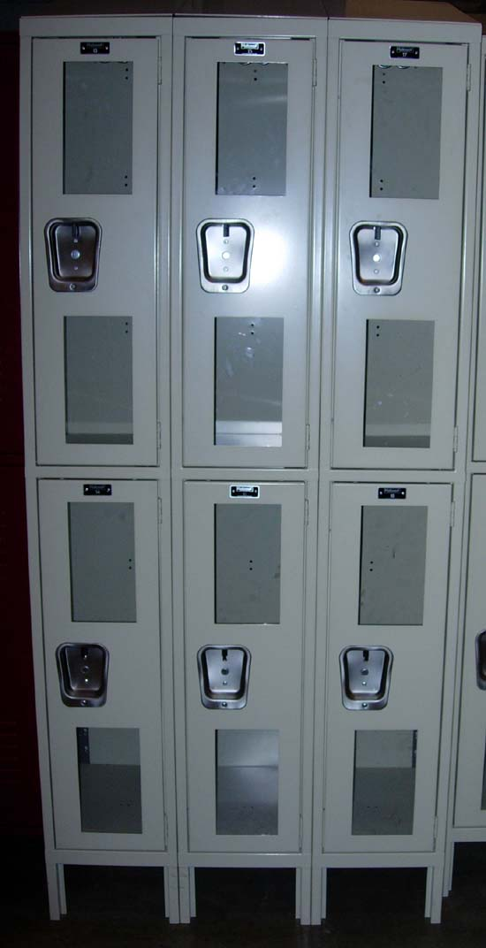 New Clear View Lockers - 2 Tier