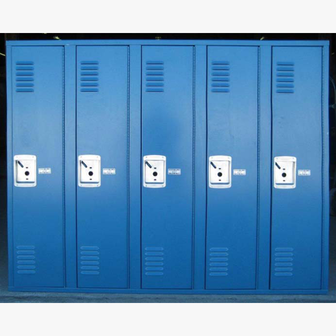 Small Metal Locker In Blueimage 1