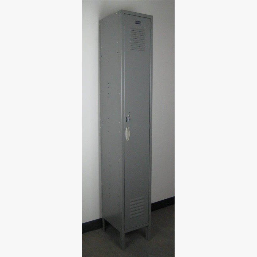 Single Tier Gray Locker with legsimage 1