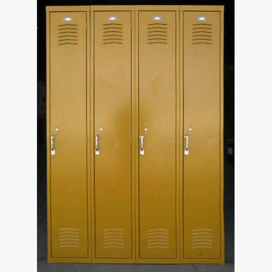Yellow Single Tier Interior Metal Lockersimage 1