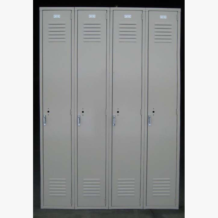 Tan Single Tier Penco Steel Lockersimage 1