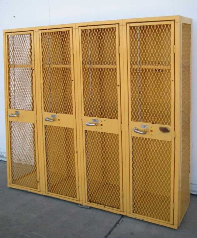 Yellow Single Tier Ventilated Lockersimage 1