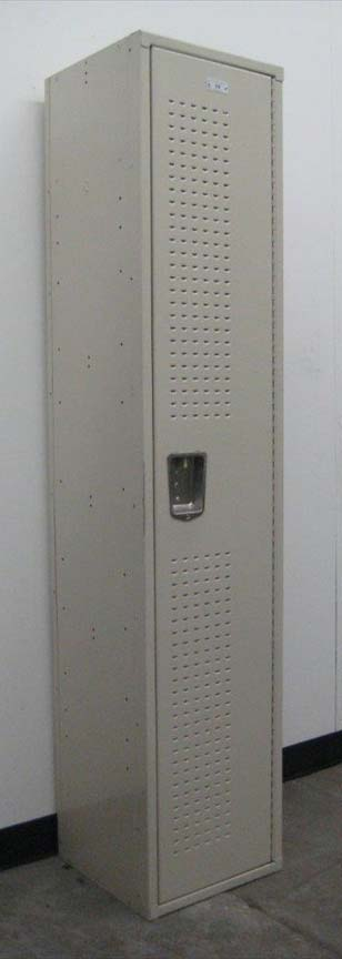 Single Tier Metal Locker with extra Ventilated Doorsimage 1