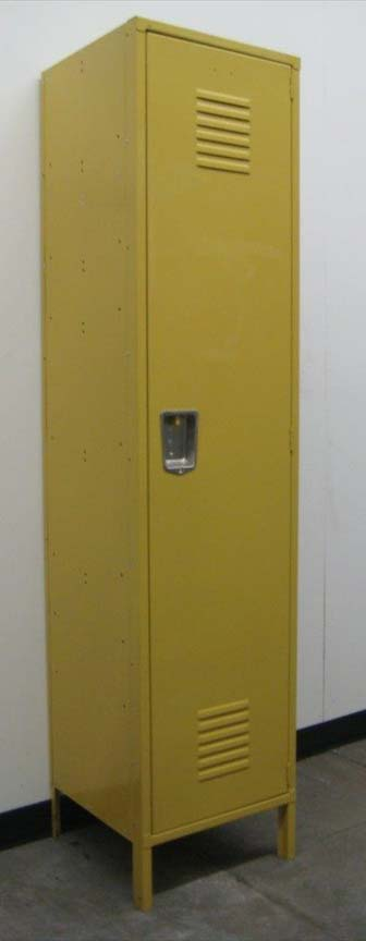 Single Tier Yellow Metal Lockerimage 1