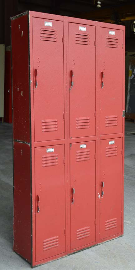 Red Double Tier All Steel Lockersimage 1