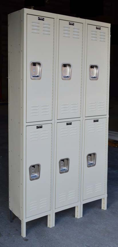 Double Tier Steel Storage Locker Compartmentsimage 1