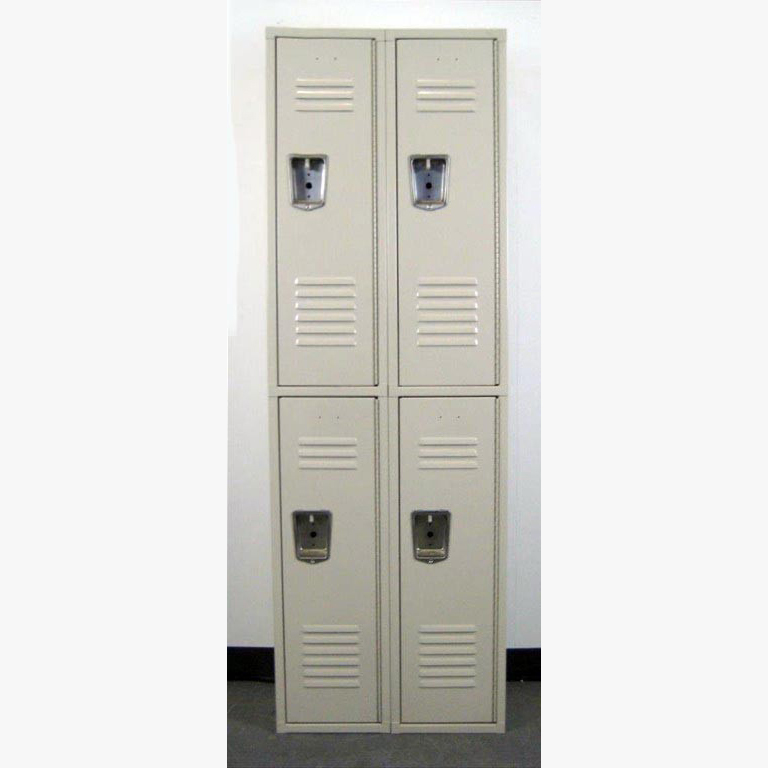 Tan Double Tier Penco Steel Lockersimage 1