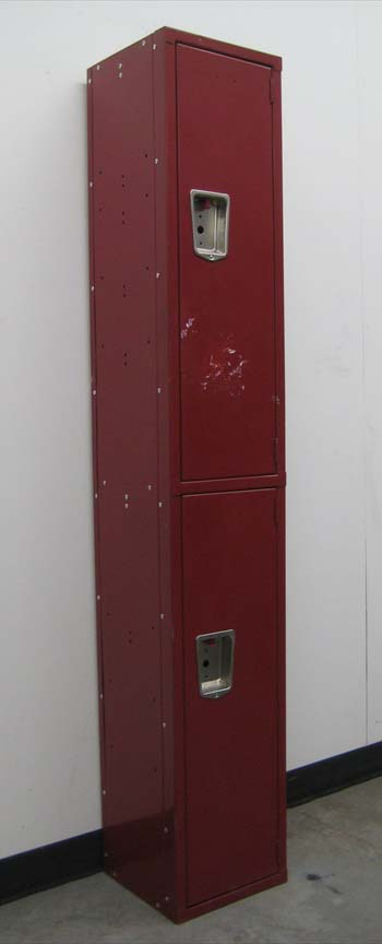Double Tier Maroon Colored Lockersimage 1