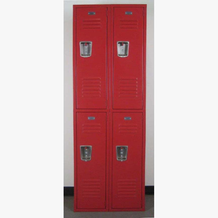 Red Double Tier Lockers