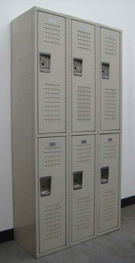 Double Tier Tan Colored School Lockersimage 1