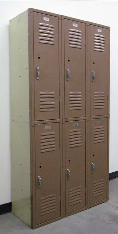 Brown Double Tier Used School Lockersimage 1