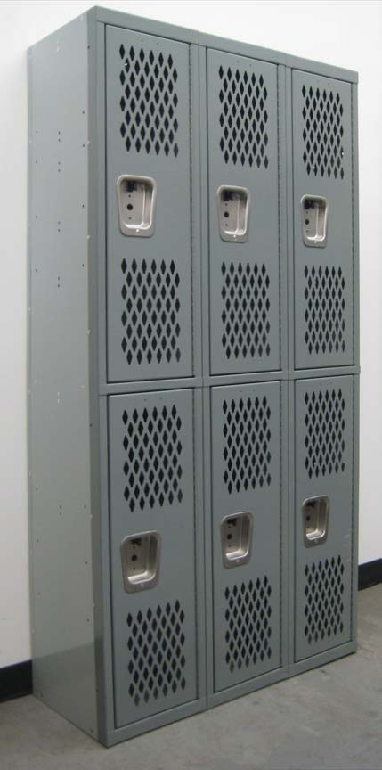 Heavy Duty 2-Tier Lockers with Ventilated Doorsimage 1