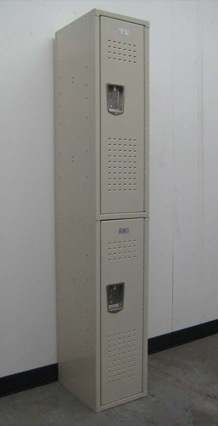 Double Tier Tan Colored Storage Lockersimage 1