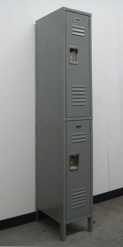 Gray 2-Tier Storage Lockersimage 1