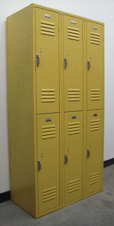 Large Double Tier Yellow Lockersimage 1
