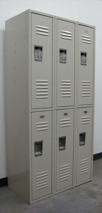 Double Tiered Metal Lockersimage 1