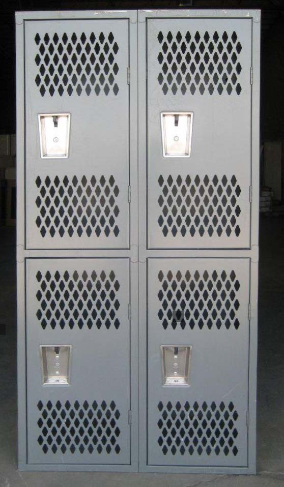 Gray Double Tier Republic Heavy Duty Gym Locker