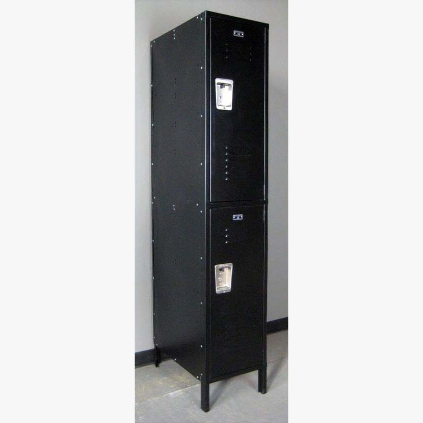 Large Double Tier Black Locker