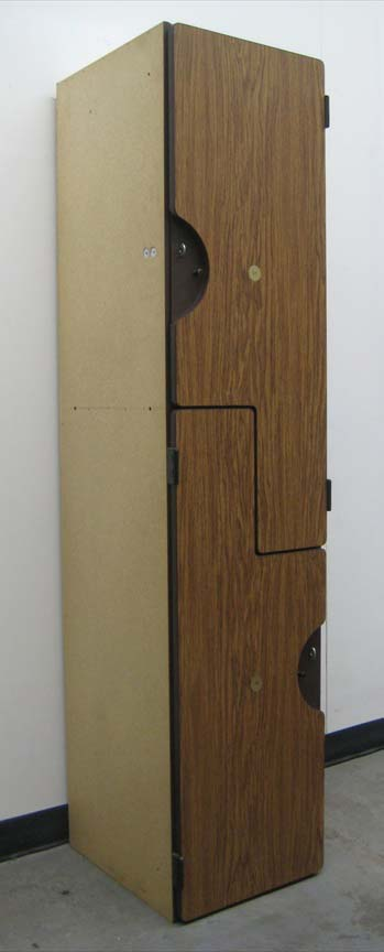 Zee Style Double Tier Wood Lockersimage 1