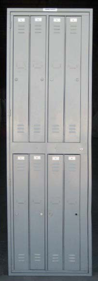 Gray Double Tier Metal Clothing Lockersimage 1