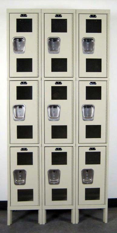 Hallowell Lockers With Clearview Doorsimage 1