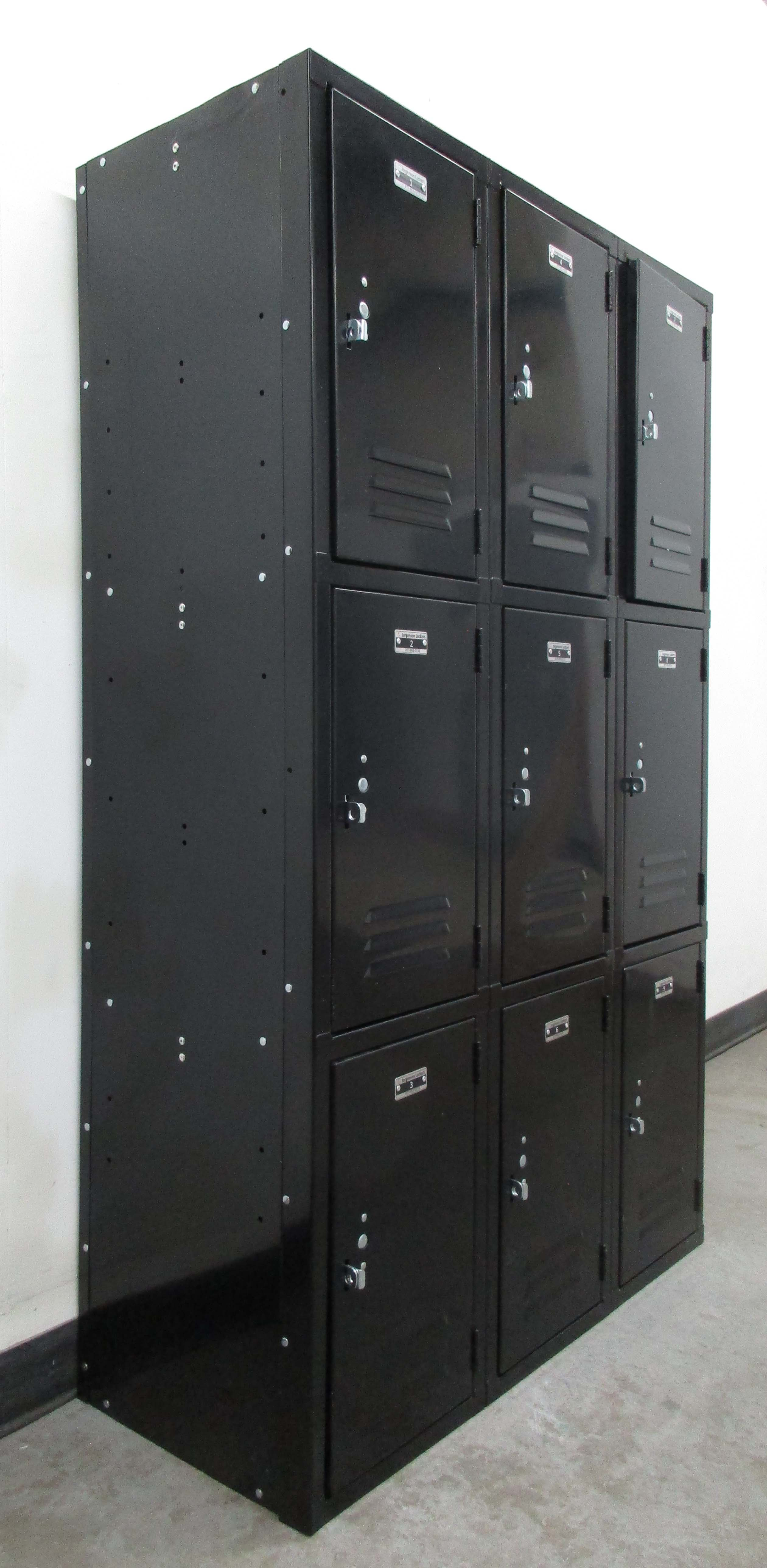 Black Triple Tier Storage Lockersimage 1