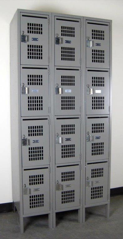 Four Tier School Lockers with Perforated Doorsimage 1