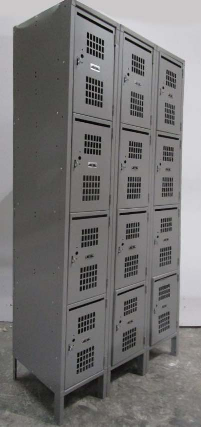 Four Tier Perforated Lockers with Mail Slotimage 1