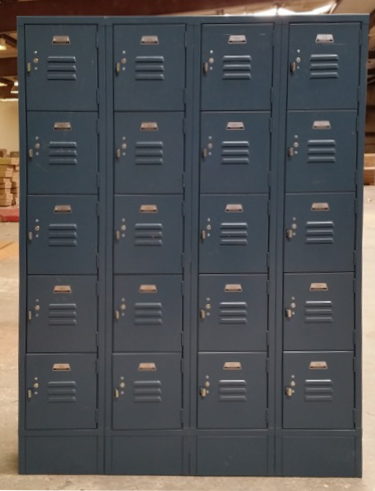Blue Five Tier Office Lockersimage 1