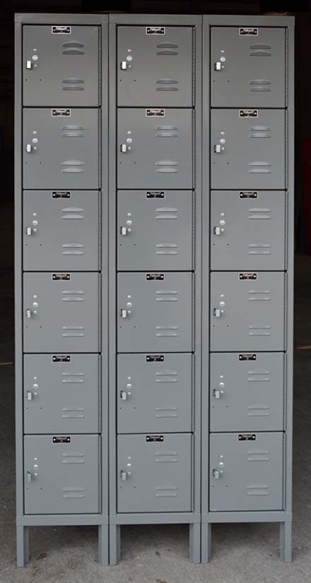 Large Hallowell Metal Box Lockersimage 1