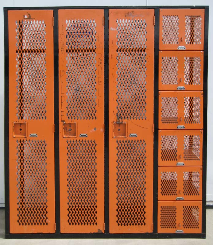 Mixed Orange and Black Gym Lockersimage 1