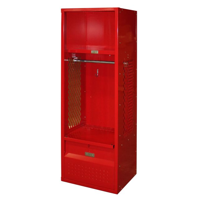 red kids team locker metal